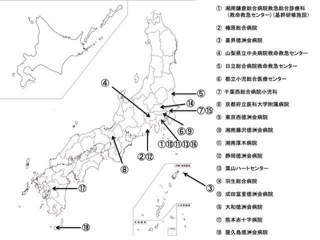 連携施設の地図